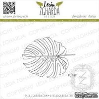 Акриловый штамп Lesia Zgharda Листок Монстери - контур FL187, 5,3*4,1см