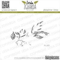 Акриловый штамп Lesia Zgharda Штриховка до гілочки з цвітом FL203
