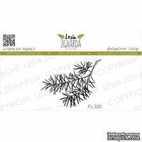 Акриловый штамп Lesia Zgharda Гілка сосни маленька FL222, 3,7*3,1см