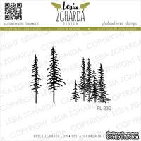Акриловый штамп Lesia Zgharda FL230 Carpathian Pines, 3 шт., размер набора 10х10 см