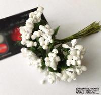 Веточки с ягодками, цвет белый, 12 штук, B63126