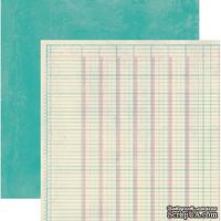 Лист скрапбумаги Authentique Register, 30х30 см, двусторонняя