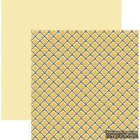 Лист скрапбумаги My Mind's Eye Tiled, 30х30 см, двусторонняя