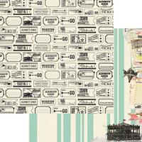Лист скрапбумаги My Mind's Eye - Carousel, 30х30 см, двусторонняя
