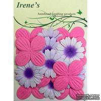 Декоративные цветы разных цветов, размер упаковки: 12х16,5 см, 20 шт.