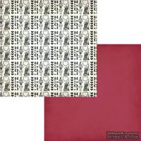 Лист двусторонней бумаги Fancy Pants - Love Note Smitten, размер 30х30 см.