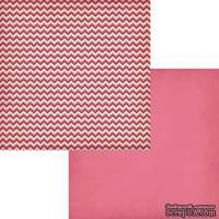 Лист двусторонней бумаги Fancy Pants - Love Note Passion, размер 30х30 см.
