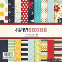 Набор скрапбумаги Fancy Pants - Down By The Shore Paper Pad, 15х15 см, 36 листов
