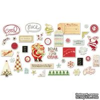 Высечки Fancy Pants - Merry little Christmas Ephemera Pack