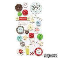 Набор пуговиц Fancy Pants - Merry little Christmas Button Set