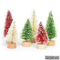 Елочки Fancy Pants - Merry little Christmas Mini Christmas Trees/Traditional, 6 шт