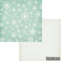 Лист двусторонней скрапбумаги Fancy Pants - Timbergrove Powder Paper, 30х30 см