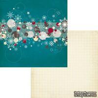 Лист двусторонней скрапбумаги Fancy Pants - Timbergrove Flurries Paper, 30х30 см