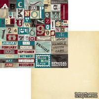 Лист двусторонней скрапбумаги Fancy Pants - Timbergrove Bits-n-Pieces Paper, 30х30 см