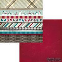 Лист двусторонней скрапбумаги Fancy Pants - Timbergrove Strips Paper, 30х30 см