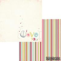 Лист двусторонней скрапбумаги Fancy Pants - Be.Loved I Love You Paper, 30х30 см