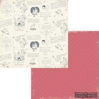 Лист двусторонней скрапбумаги Fancy Pants - Be.Loved Sentiments Paper, 30х30 см