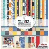 Набор двусторонней скрапбумаги и декора Fancy Pants - Nautical Collection Kit, 30х30 см