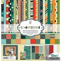 Набор двусторонней скрапбумаги и декора Fancy Pants - Be Different Collection Kit, 30х30 см, 12 листов