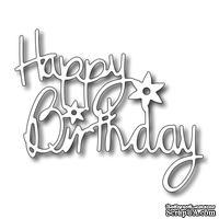 Лезвие Frantic Stamper - Precision Dies - Floral Happy Birthday