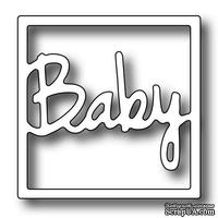 Лезвие Frantic Stamper - Precision Die - Square Vignette Baby Insert