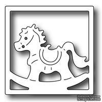 Лезвие Frantic Stamper - Precision Die - Square Vignette Rocking Horse Insert