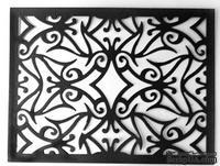 Ножи от Cheery Lynn Designs - Mediterranean Lace Rectangle Frame.