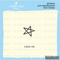 Штампы от Cherrylana - Звезда, на акрил блоке, 1х1 см