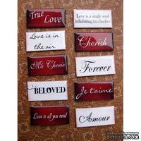 ЦЕНА СНИЖЕНА! Фишки для скрапбукинга с эпоксидным покрытием О любви…