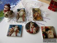 ЦЕНА СНИЖЕНА! Фишки для скрапбукинга с эпоксидным покрытием Новый год 3