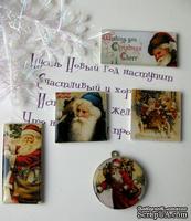 ЦЕНА СНИЖЕНА! Фишки для скрапбукинга с эпоксидным покрытием Новый год 4
