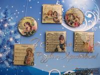 ЦЕНА СНИЖЕНА! Фишки для скрапбукинга с эпоксидным покрытием Рождество