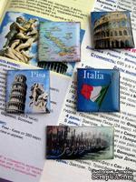 ЦЕНА СНИЖЕНА! Фишки для скрапбукинга с эпоксидным покрытием Италия
