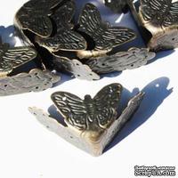 Уголки с бабочками, 40х18мм, 4 детали