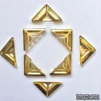 Набор металлических уголков, цвет золото, 17х4мм, 4 шт.