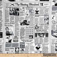 Ткань 100% хлопок - Газета шитье и мода, 45х55 см
