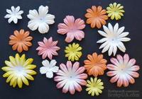 Набор цветов персикового/желтого/белого оттенков, 20-50 мм, 20 шт.