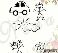 Штамп от Питерского Скрапклуба - Фон-Детские Рисунки