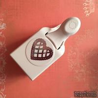 КОМИССИОНКА - б.у - Фигурный дырокол Martha Stewart - Craft Punch - Large - Lace Scallop Heart