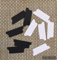Набор высечек из белого (черного) картона - Этикетки для разделителей, 5 шт.