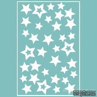 Чипборд от Вензелик - Набор звезд в планшете, размер: 150x100 мм