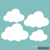Чипборд от Вензелик - Набор облаков, размер: 70x100 мм