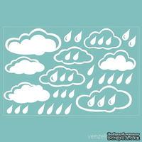 Чипборд от Вензелик - Набор облаков 02, размер: 100x150 мм