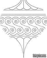 Резиновый штамп - Drop Ornament Outline