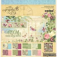 Набор двусторонней скрапбумаги Graphic 45 - Bloom Collection Pack, 30х30 см, 16 листов