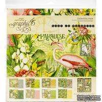 Набор скрапбумаги Graphic 45 - Lost In Paradise, 30х30 см, 16 листов и наклейки