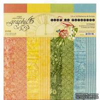 Набор скрапбумаги Graphic 45 - Lost In Paradise, 30х30 см, 16 листов, фоновая