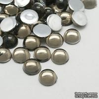 Прозрачные капли DarkGray, 6x3мм, цвет серый, 20 шт.