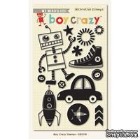 Акриловые штампы My Mind's Eye - Boy Crazy - Clear Acrylic Stamps