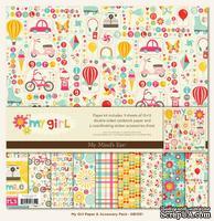 Набор двусторонней скрапбумаги My Mind's Eye My Girl - Collection Kit, размер 30х30 см